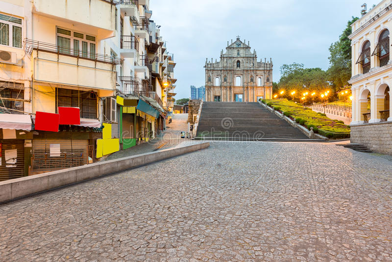 Macau ruiny St Paul ` s zdjęcia stock