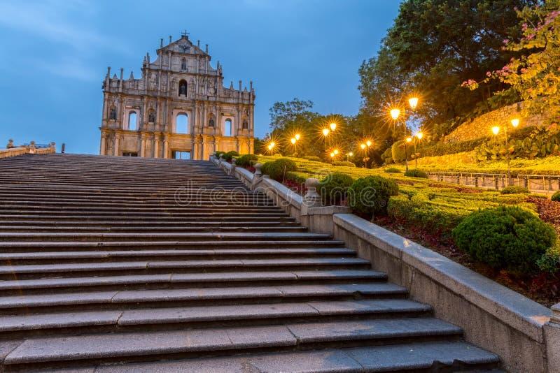 Macau ruiny St Paul ` s zdjęcia royalty free