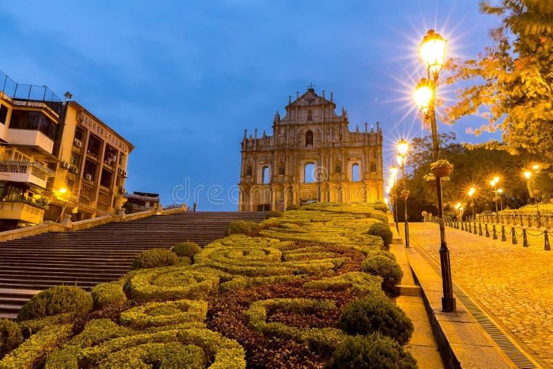 Macau ruiny St Paul ` s zdjęcie royalty free