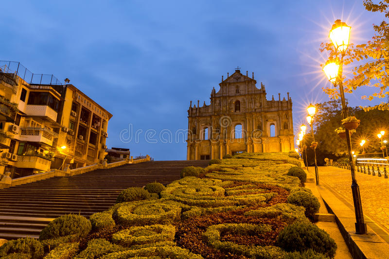 Macau ruiny St Paul ` s zdjęcie stock