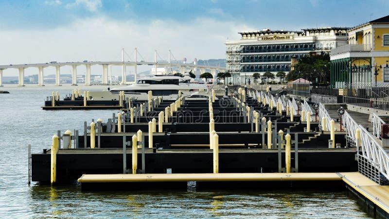 Macau rybaka s nabrzeże obraz stock