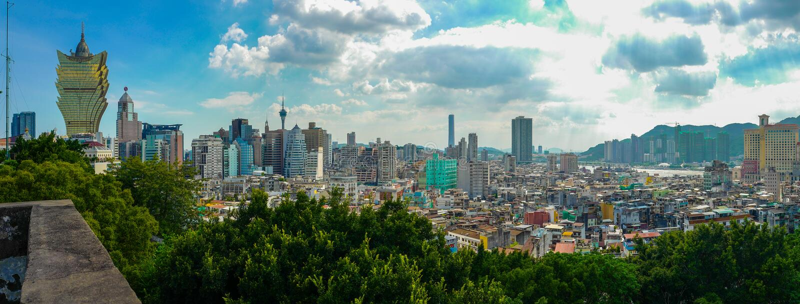 Macau& x27; s-Skyline stockbild