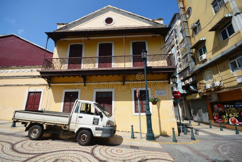 Macau setembro 5,2015 - arquitetura da cidade de Macau, é um CEN histórico fotos de stock