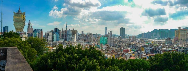Macau& x27; skyline de s imagem de stock