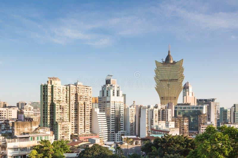 Macau skyline stock image