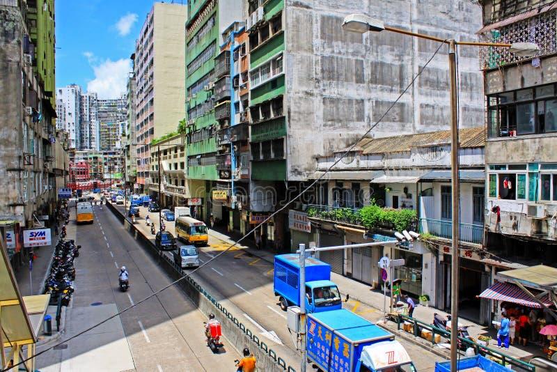 Macau Street View, Macau, China stock image