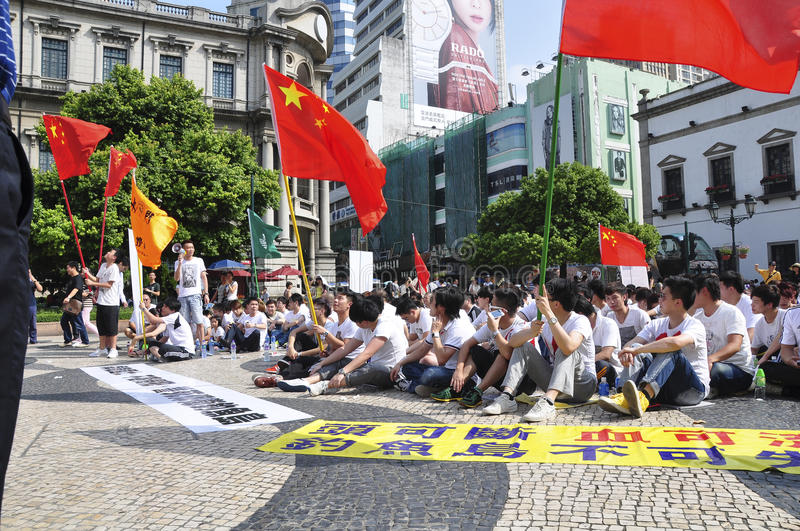 Download Macau Student Demonstrations Editorial Stock Photo - Image: 34202128