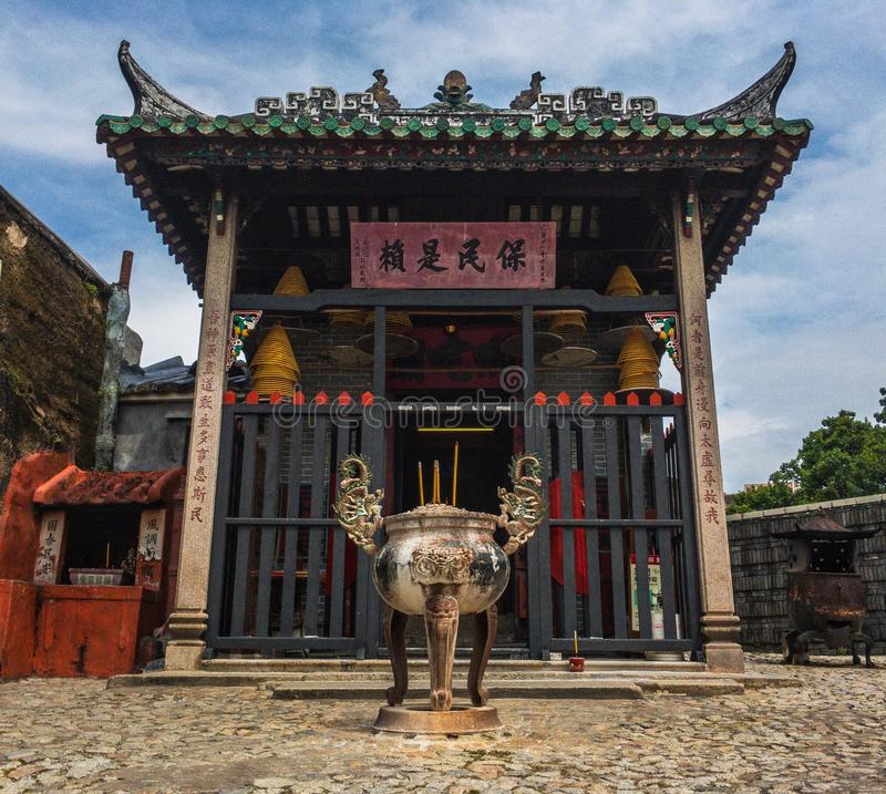 macau tempel royaltyfri foto