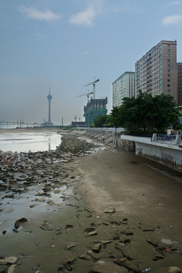 Download Macau tower stock image. Image of peninsula, pollution - 1049149