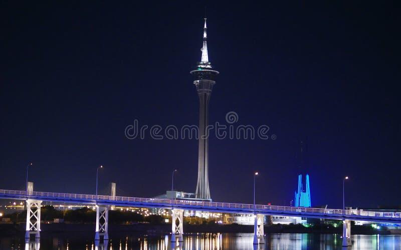 Macau-Turm lizenzfreie stockbilder