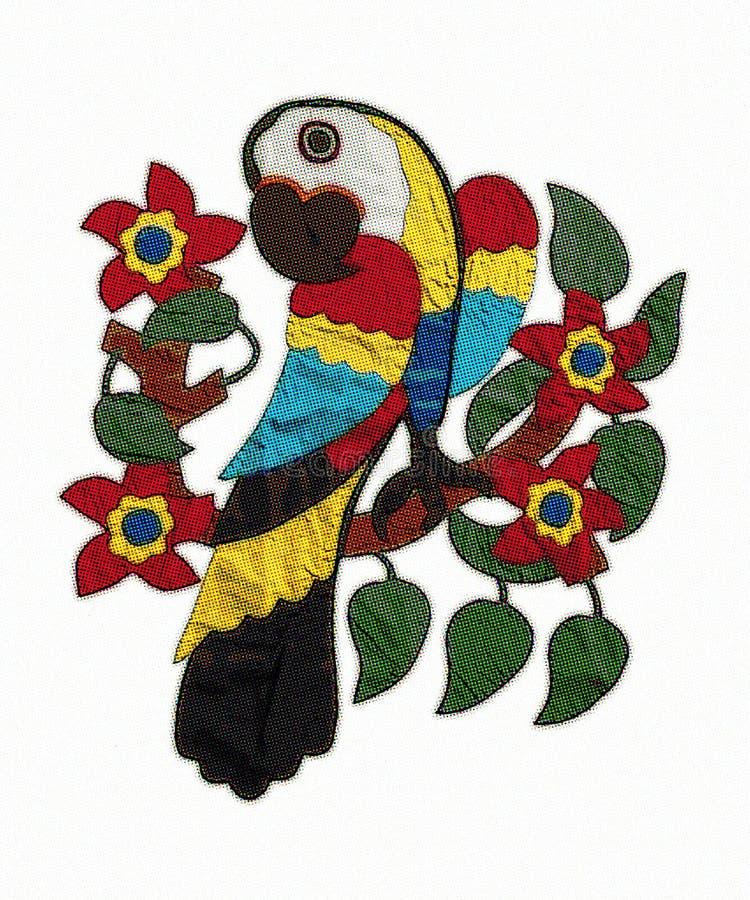 Macaw, macaw de semitono del punto del estallido fotos de archivo