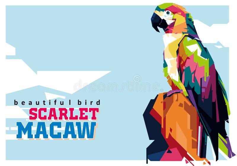 Macaw del escarlata en Wpap fotos de archivo libres de regalías