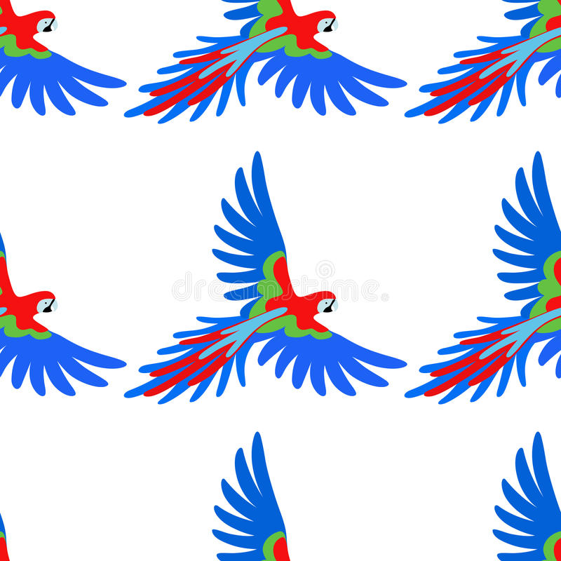 Macaw parrot seamless pattern royalty free illustration