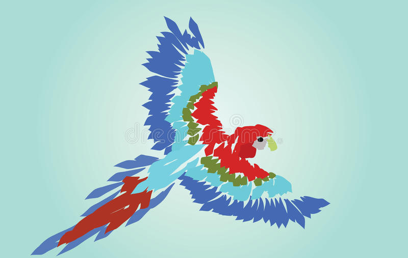 Macaw Parrot Spread Wings stock images