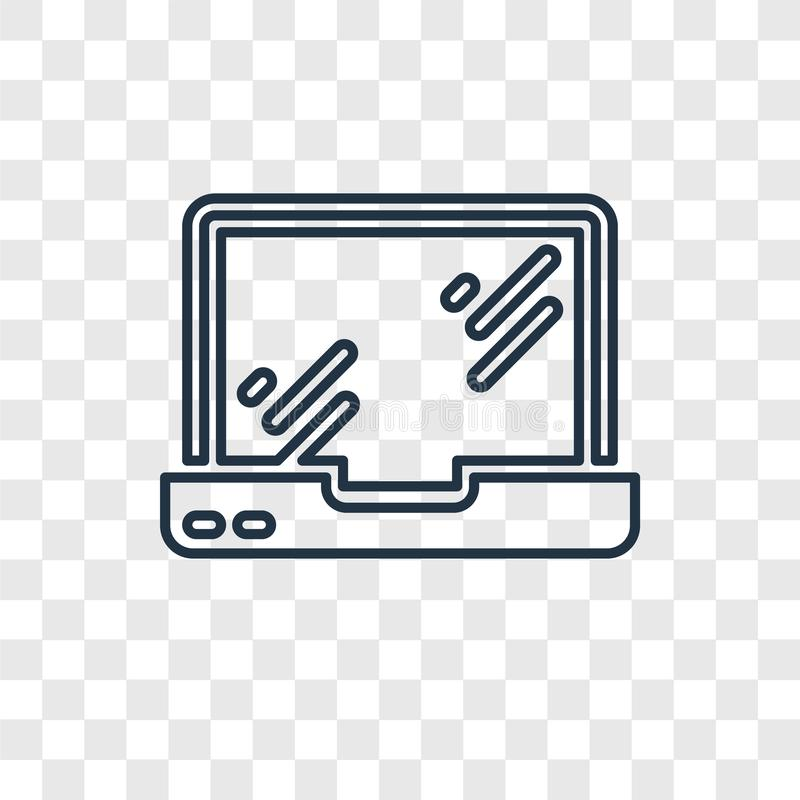 Macbook concept vector linear icon isolated on transparent background, Macbook concept transparency logo in outline style royalty free illustration