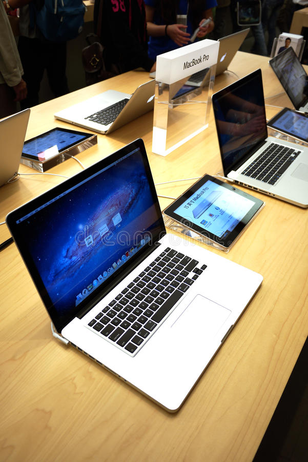 Macbook de Apple pro imagem de stock