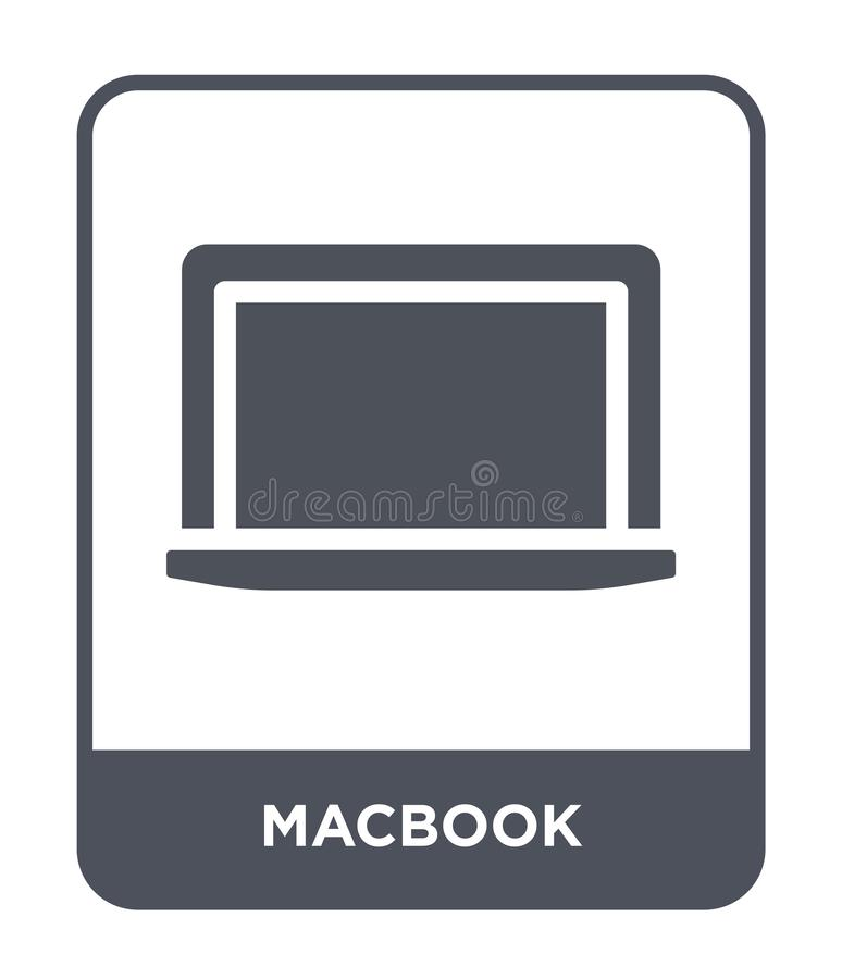 macbook Ikone in der modischen Entwurfsart macbook Ikone lokalisiert auf weißem Hintergrund einfaches und modernes flaches Symbol lizenzfreie abbildung