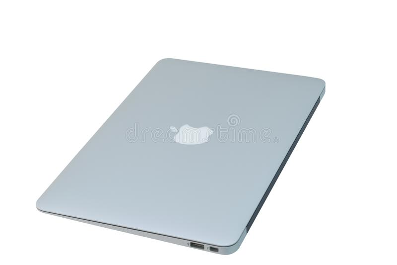 Macbook laptop ` 2018 do 1º de março fotografia de stock royalty free