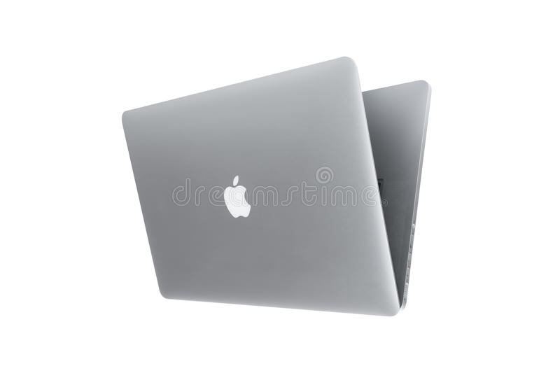 MacBook-laptop door Apple dat Inc wordt ontwikkeld stock foto