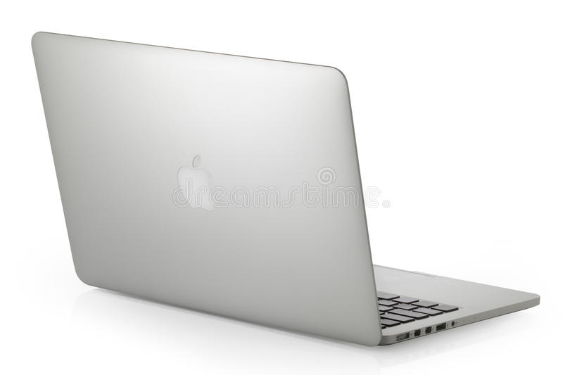 MacBook Pro. Koszalin, Poland- January 14, 2017: Apple MacBook Pro laptop computer by Apple Inc. on a white background. This MacBook Pro has a 13,3-inch royalty free stock image