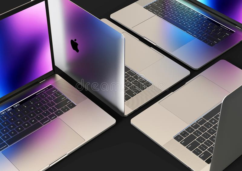 MacBook Pro laptop computers, composition royalty free stock photos