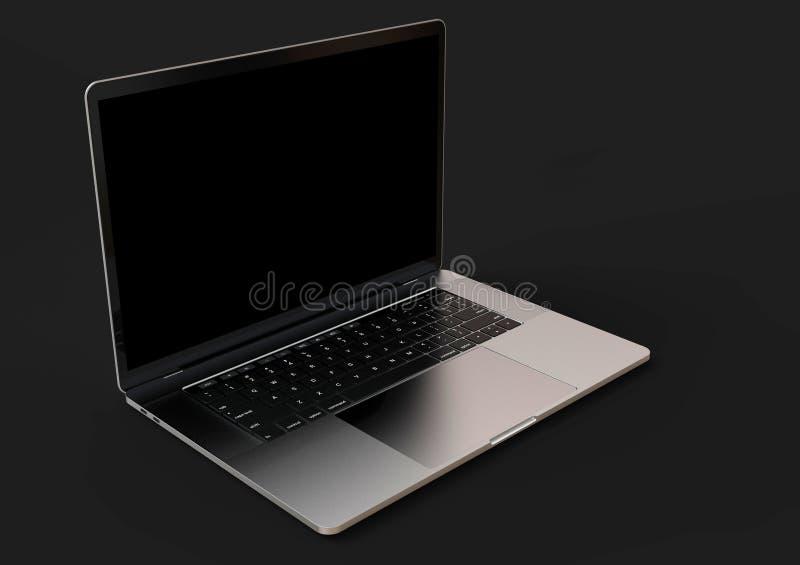 MacBook Pro ruimte grijze gelijkaardige laptop computer, vooraanzicht royalty-vrije illustratie