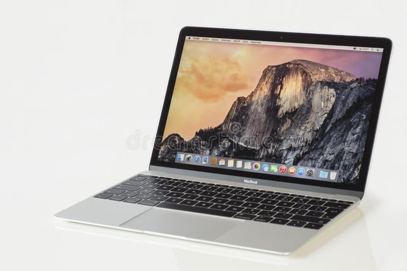 Apple MacBook Silver royalty free stock photo