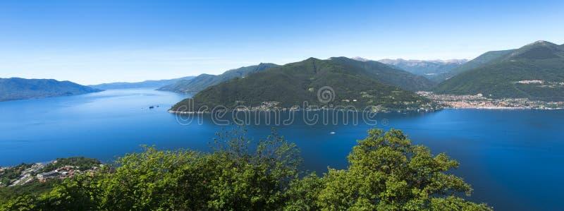 Maccagno - Jeziorny Maggiore, Maccagno, Varese, Lombardy, Włochy obrazy royalty free