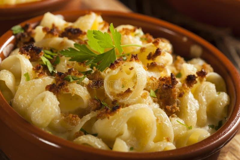 Maccheroni casalinghi al forno e formaggio fotografia stock libera da diritti