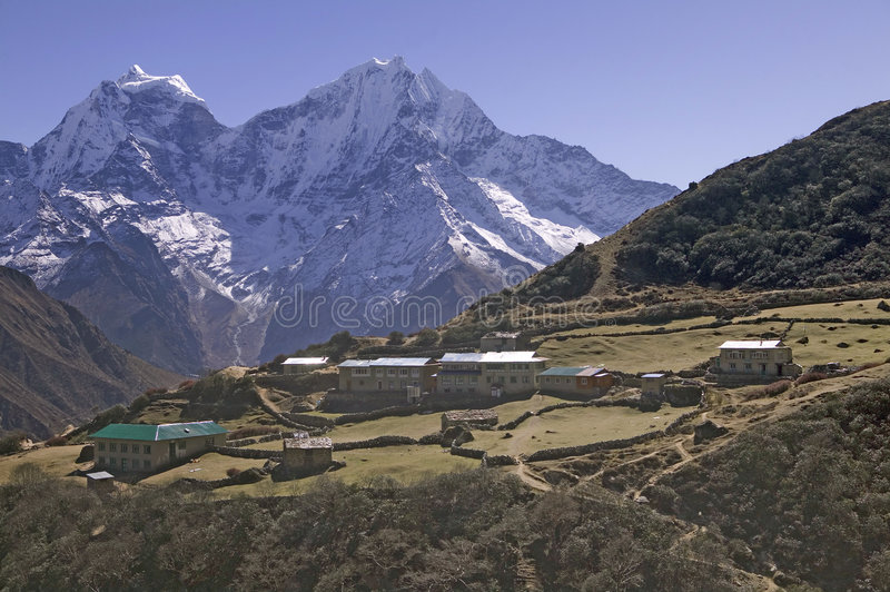 Macchhermo Village in Nepal royalty free stock images