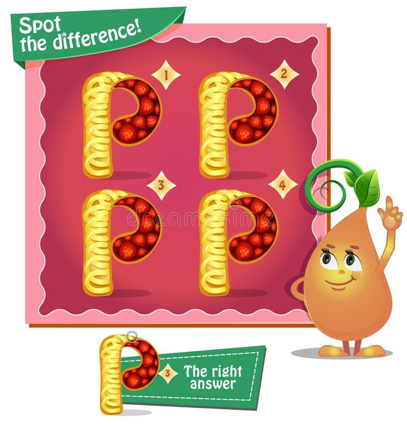 Macchi le lettere p di differenza