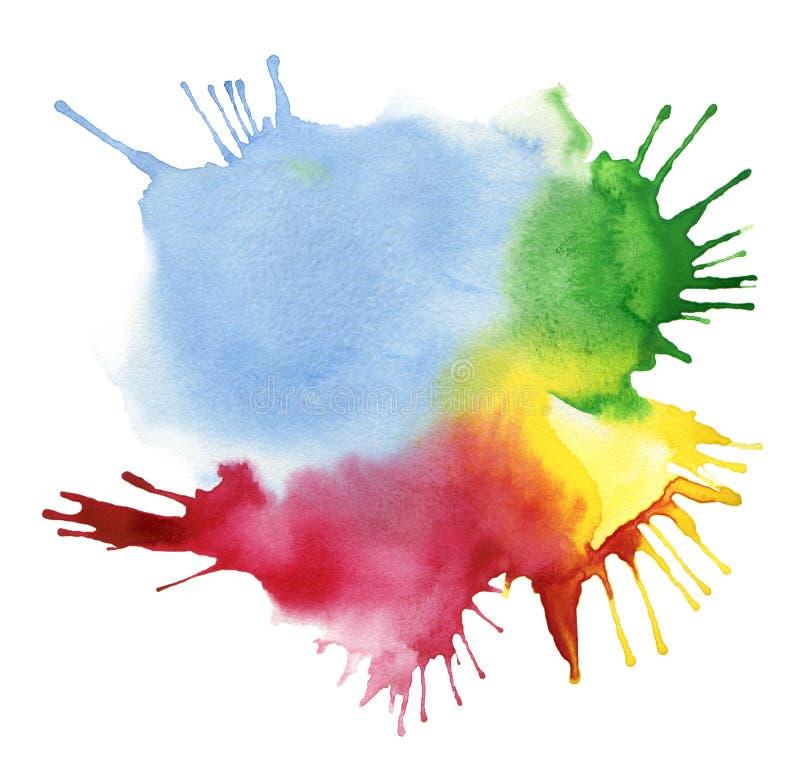 Macchia astratta dell'acquerello di colore royalty illustrazione gratis