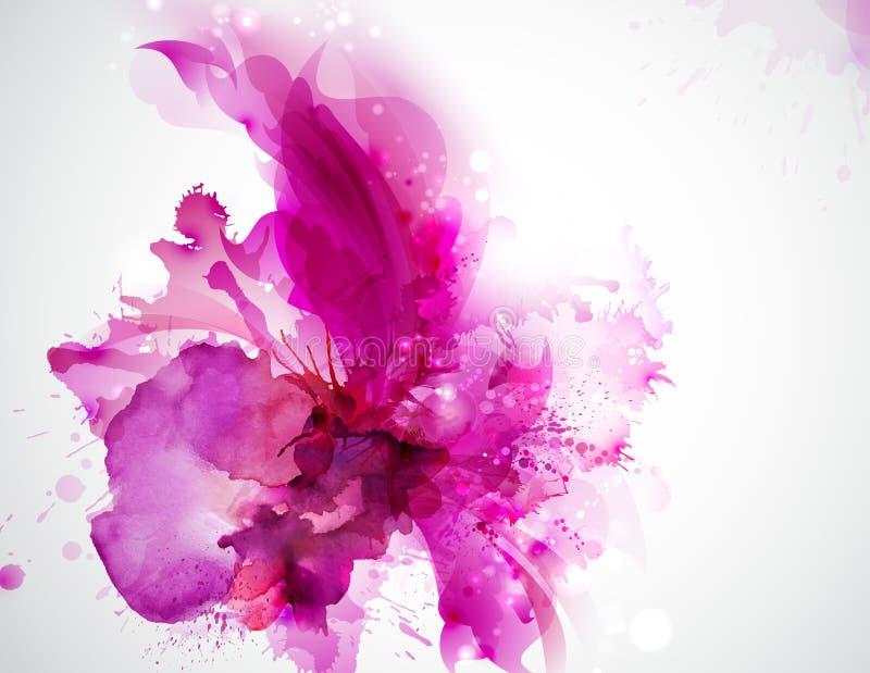 Macchia astratta rosa illustrazione vettoriale