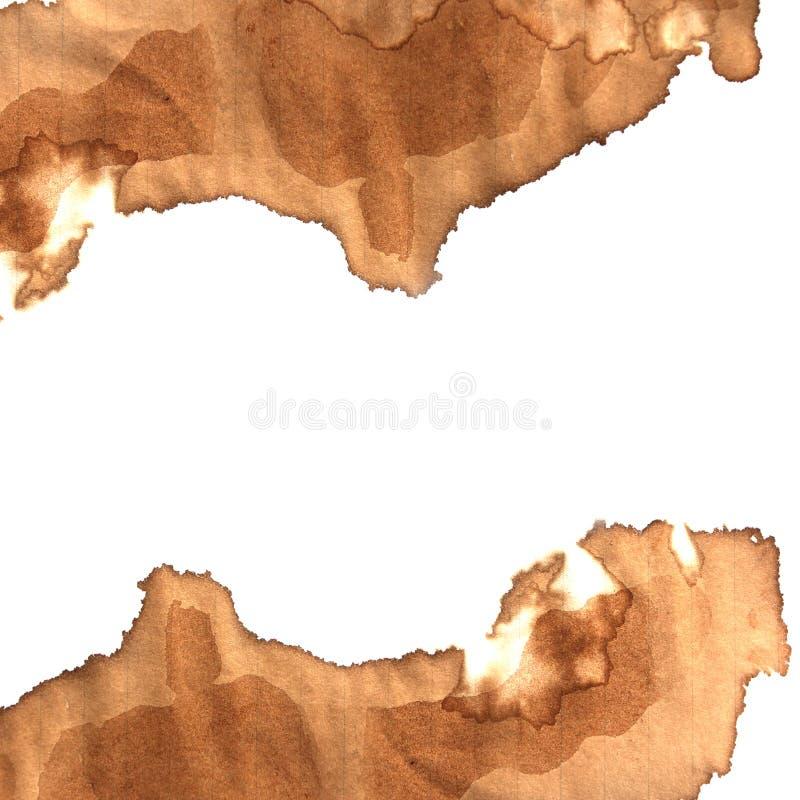 Macchia del caffè su carta immagini stock libere da diritti