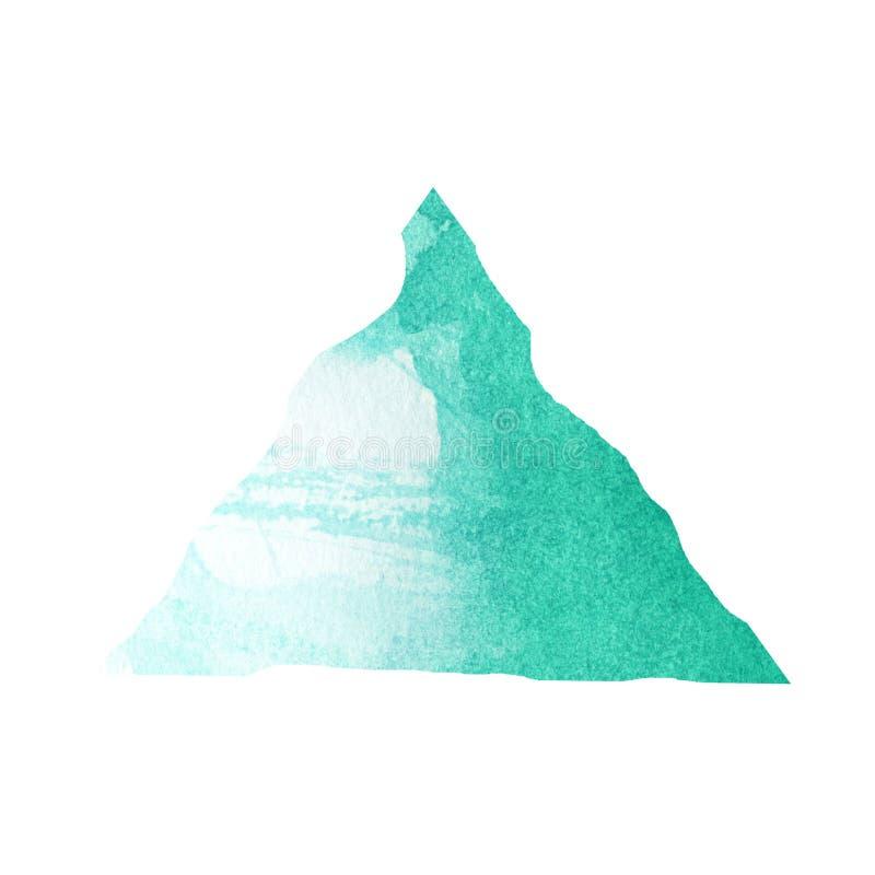 Macchia della piramide di Emerald Watercolor royalty illustrazione gratis