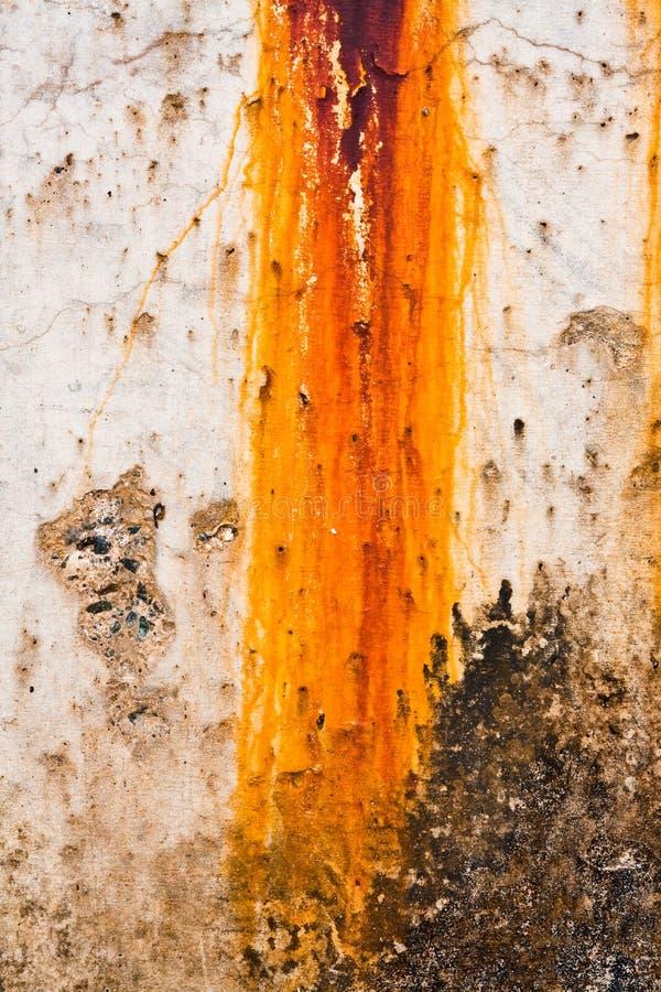 Macchia della ruggine del frangiflutti fotografie stock libere da diritti