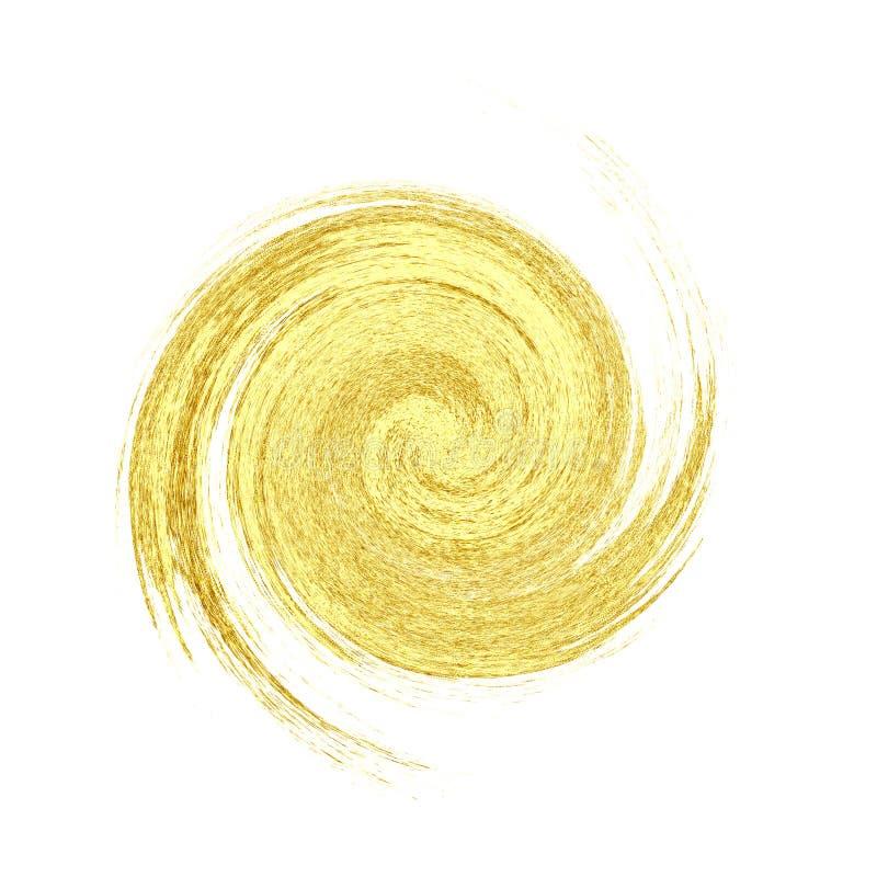 Macchia dorata di lusso astratta illustrazione vettoriale