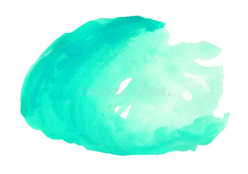 Macchia luminosa di Emerald Watercolor illustrazione di stock