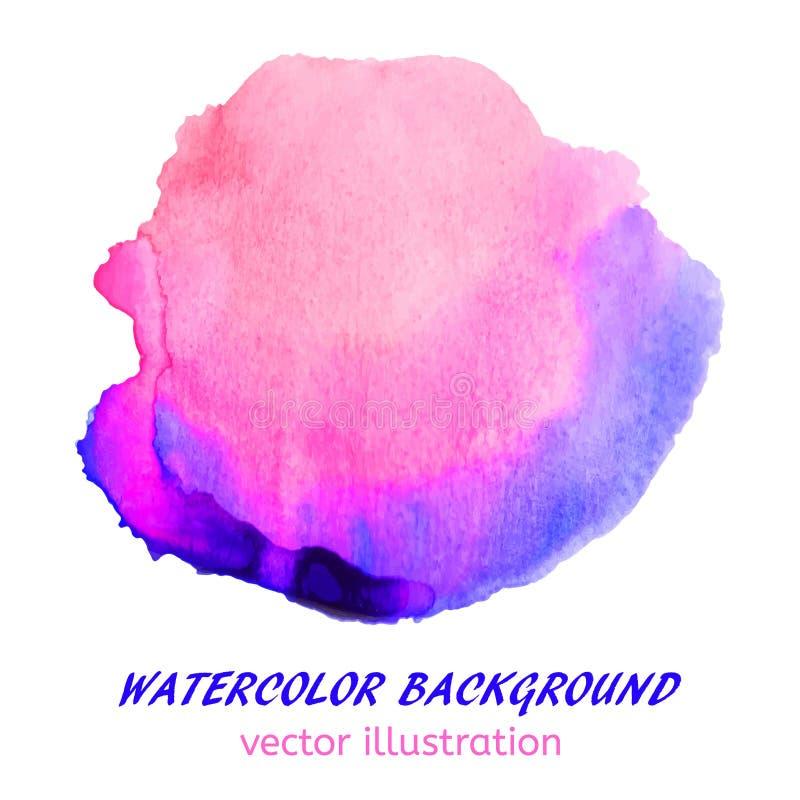Macchia rosa e blu dell'acquerello Fondo astratto per il vostro desi royalty illustrazione gratis