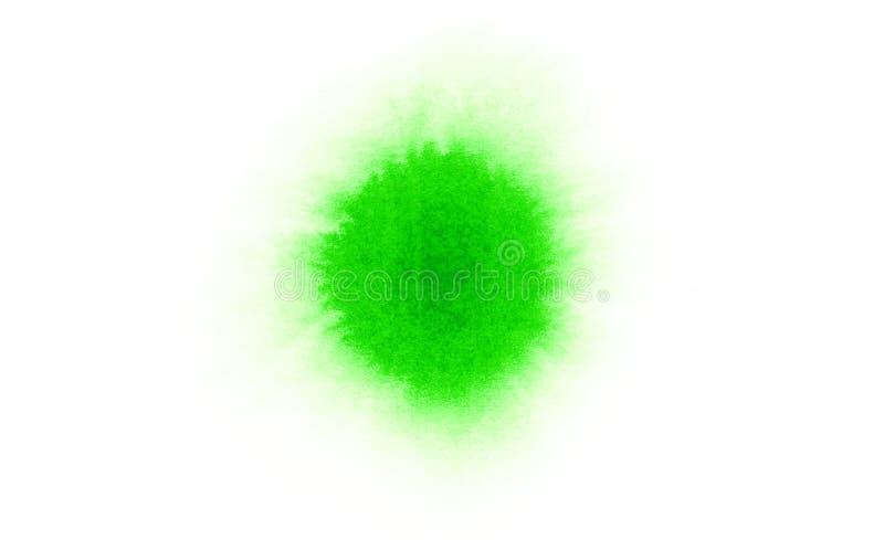 Macchia verde della macchia dell'acquerello fotografia stock