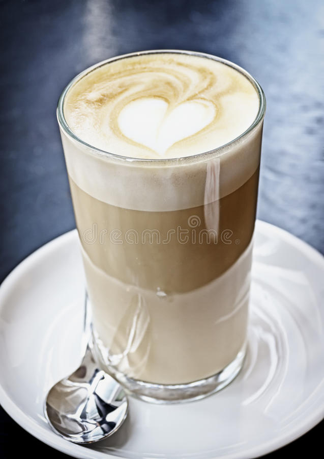 Macchiato do Latte foto de stock royalty free