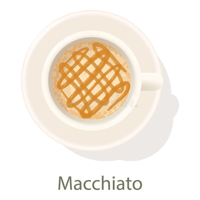 Macchiato icon, cartoon style stock illustration
