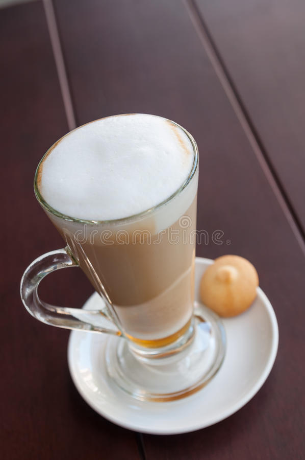 Download Macchiato on the table stock photo. Image of cookies - 33528820