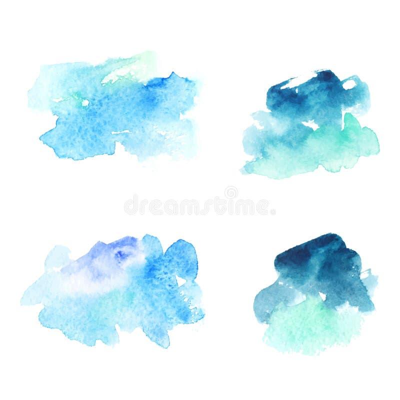 Macchie blu astratte dell'acquerello royalty illustrazione gratis