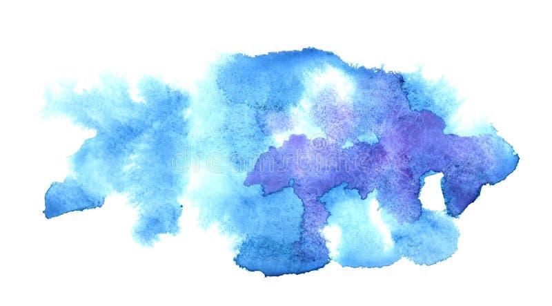 Macchie blu di acqua colore illustrazione di stock