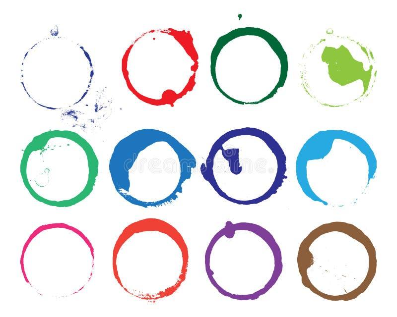 Macchie del cerchio di vettore di lerciume illustrazione vettoriale