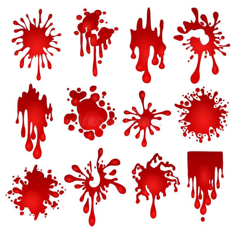 Macchie del sangue messe illustrazione vettoriale
