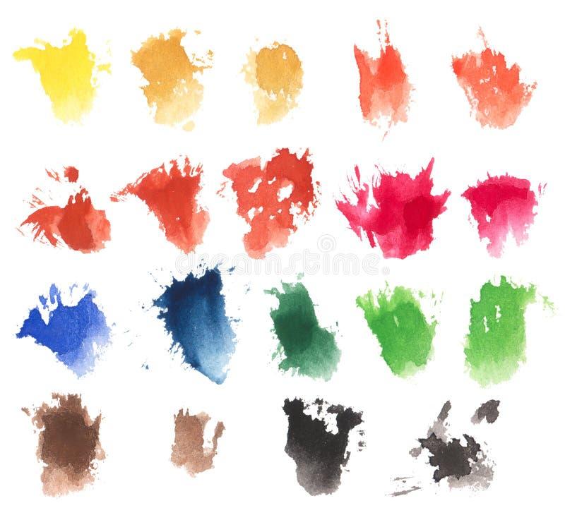 Macchie della spazzola dell'acquerello illustrazione di stock