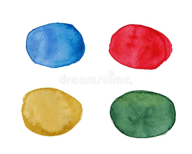 Macchie multicolori con effetto dell'acquerello illustrazione vettoriale