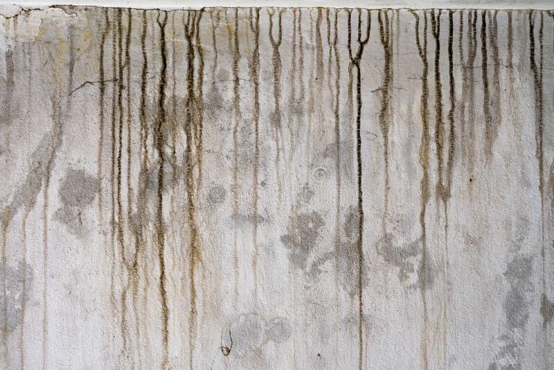 Macchie nere sulla parete del cemento fotografia stock
